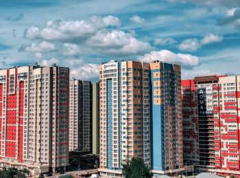 Вид на ЖК Лобачевский с улицы